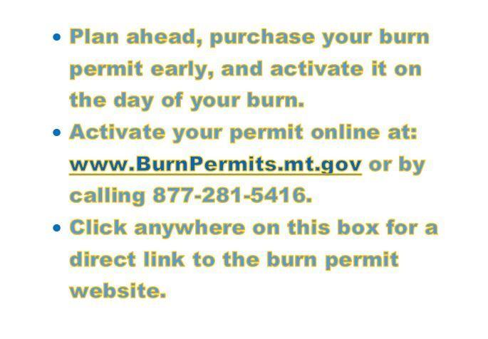 Burn Permit Text