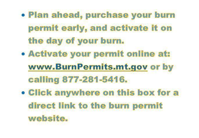 Burn Permit Info