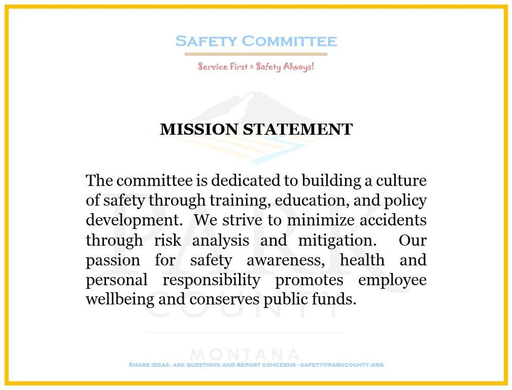 Safety Committee Mission Statement
