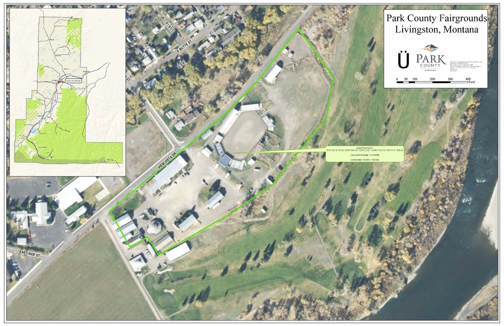 Map of the Park County Fairgrounds